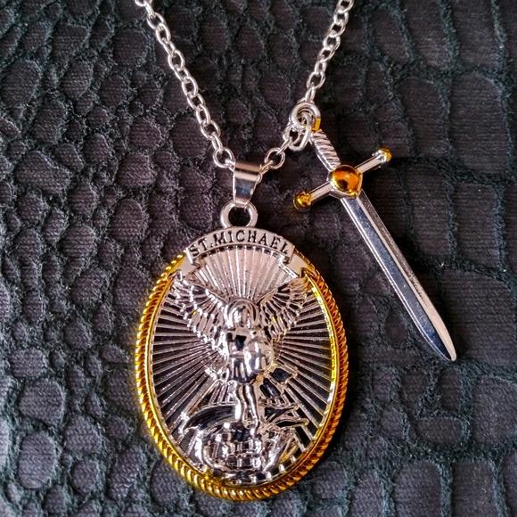 Michael The Archangel Pendant Necklace
